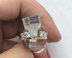 Picture of 14kt yellow gold ring with 4 round diamonds 0.50 carat total weight 2.4 gr size 4.75 . 788268-3