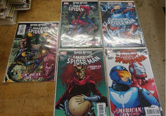 Picture of LOT 5 DARK REIGN THE AMAZING SPIDER MAN AMERICAN SON 1-5 MARVEL COMICS MINT CONDITION. COLLECTIBLE.