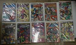 Picture of MARVEL COMICS LOT OF 10 THE AMAZING SPIDER MAN  342 DECEMBER; 341 NOVEMBER; 340 OCTOBER; 339 LATE DECEMBER; 338 EARLY DECEMBER; 333 JUNE; 334 EARLY JULY; 335 LATE JULY; 337 LATE AUGUST; 336 EARLY AUGUST.VERY GOOD COLLECTIBLE.