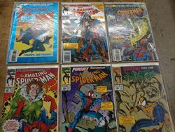 Picture of LOT 6 MARVEL THE AMAZING SPIDER MAN COMICS 387 MAR ;390 JUNE ;389 MAY ;399 MARCH ;388 APRIL ;394 OCTOBER. MINT CONDITION. COLLECTIBLE.