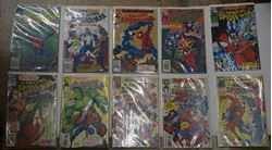 Picture of LOT 10 THE AMAZING SPIDER MAN COMICS MARVEL 373 LATE JANUARY; 374 FEBRUARY; 375 MARCH; 376 APRIL; 377 MAY; 378 JUNE; 386 FEBRUARY; 382 OCTOBER; 380 AUGUST; 379 JULY. MINT CONDITION COLLECTIBLE.