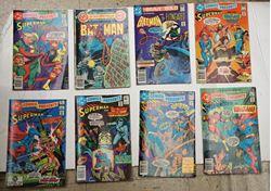 Picture of LOT 8 DC COMICS BATMAN  NO 177 AUGUST ;SUMMER 178 & SUPERMAN NO 43 MARCH; NO 21 MAY; NO 34 JUNE; NO 45 MAY; NO 14 OCTOBER; NO 33 MAY. MINT CONDITION. COLLECTIBLE.