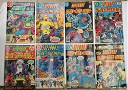 Picture of LOT 8 DC SUPERBOY LEGION OF SUPER HEROES  NO 214 JANUARY HAS A LITTLE DAMAGE; NO 244 OCTOBER; NO 243 SEPTEMBER; NO 203 AUGUST; NO 251 MAY; NO 254 AUGUST; NO 234 DECEMBER; NO 247 JANUARY. GOOD CONDITION. COLLECTIBLE.