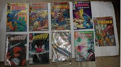 Picture of LOT 9 MARVEL COMICS DAREDEVIL 256 JULY; 255 JUNE; THOR 343 MAY; THE CHAMPION 16 NOVEMBER; 14 JULY; MAGIK 2 JANUARY; 1 DECEMBER;THE THING 70 DECEMBER; 26 APRIL. VERY GOOD CONDITION. COLLECTIBLE.
