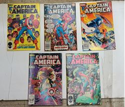 Picture of LOT 5 MARVEL COMICS CAPTAIN AMERICA 301 JAN ;288 DEC ; 287 NOV; 289 JAN ;299 NOV. VERY GOOD CONDITION. COLLECTIBLE.