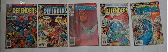 Picture of LOT 5 MARVEL COMICS THE DEFENDERS  108 JUNE;130 APL; 99 SEPT; 95 MAY;105 MAR GOOD CONDITION.
