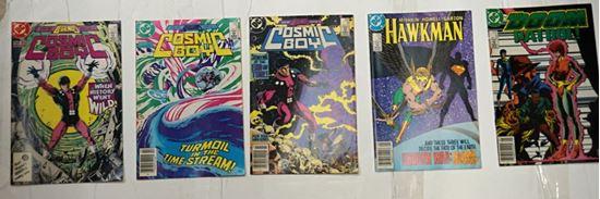 Picture of LOT 5 DC COMICS COSMIC BOY 4 3 1; HAWKMAN 10; THE DOOM PATROL 4 MINT