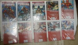 Picture of LOT 10 MARVEL COMICS THE AMAZING SPIDER MAN THE ROAD TO CIVIL WAR RATED A. VERY GOOD CONDITION. COLLECTIBLE. 529 530 531 532 533 534 535 536 537 538 .