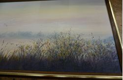 """Picture of PAINT """" LAVENDER FIELD SEEN """" 24X13 FREE SHIPPING"""