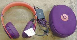 Picture of BEATS HEADPHONES SOLO 3  WITH WIRES AND CASE A1796 USED VERY GOOD CONDITION 851290-1