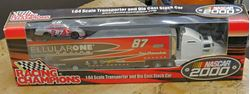 Picture of 1:64 DIE CAST CAR RACING CHAMPIONS NASCAR 2000 CELLULARONE TRUCK & SMALL CAR NEW. IN BOX. COLLECTIBLE.