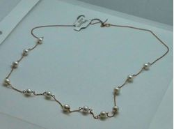 Picture of 14KT ROSE GOLD THIN ROPE WITH 6MM PEARLS 24 INCHES LONG 6.4GR 821779-8