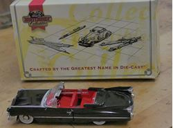Picture of Matchbox Dinky 1/43 Scale Black 1959 Cadillac Coupe Deville #DYG05. VINTAGE.COLLECTIBLE