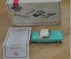 Picture of Matchbox Collectibles Dinky 1955 Ford Thunderbird Cyan 1:43 WITH COA AND BOX. VINTAGE. COLLECTIBLE.
