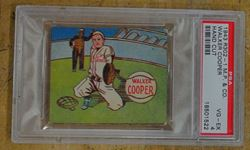 Picture of 1943 PSA BASEBALL CARD R302-1 M.P & CO WALKER COOPER HAND CUT VG-EX 4 18501522. VERY GOOD CONDITION. COLLECTIBLE. PROFESSIONAL P.A SPORTS AUTHENTICATOR.