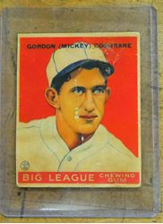 Picture of 1933 Goudey Baseball-#76 Mickey Cochrane Card vintage. Collectible. good condition.