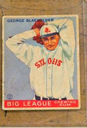 Picture of  Goudey #16 George Blaeholder St Louis Browns Goudey Gum Vintage . good condition. collectible.