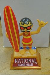 Picture of NATIONAL BOHEMIAN NATTY BOH BEER BUBLE HEAD STATUE 255 OF 500 COLLECTIBLE. VERY GOOD CONDITION.