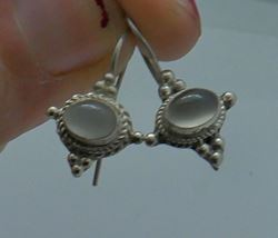 Picture of Sterling silver earrings 925 with oval clear stones 2.9 grams 853592-14