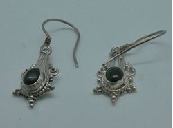 Picture of sterling silver 925 earrings with black stones 2.4 grams 853570-13