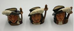 "Picture of  Signed Royal Doulton Mug ""Porthos, Athos, Aramis"" One of Three Musketeers "" 4"" . pre owned. mint condition. Aramis signed by Michael Doulton  November 3rd 1982, Athos signed by Michael Doulton June 30st 1980, Porthos UNSIGNED."