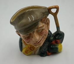"Picture of 1972 Royal Doulton England ""The Gardener"" Toby Jug Character D6634 Medium 4"". mint condition."