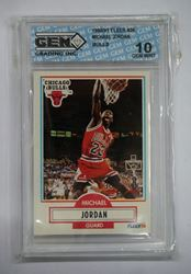 Picture of 1990-91 Fleer Michael Jordan #26 10 GEM MINT Bulls. like new.